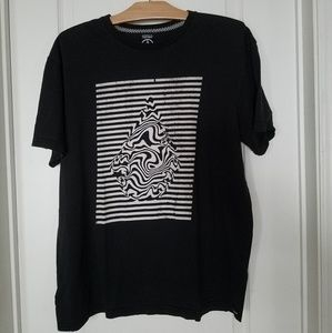 Volcom modern fit black and white graphic t-shirt